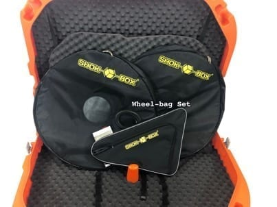 an open shokbox with wheel bags and triangle storage bag